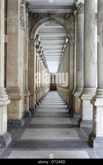 Colonnade in Karlovy Vary, Czech Republic - Stock-Bilder
