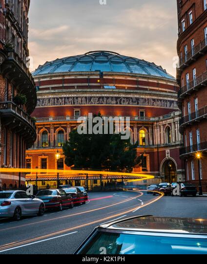 Royal Albert Hall at sunset, London, UK - Stock Image