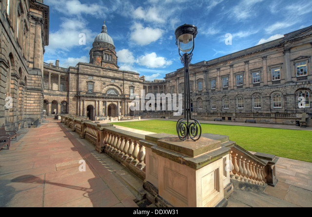 Edinburgh University South College Lothian Scotland UK wide view - Stock Image