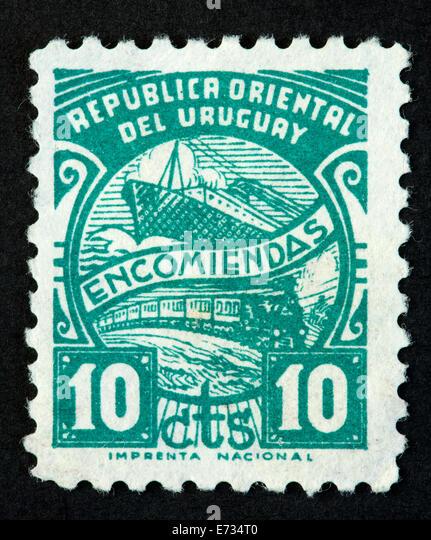 Uruguay postage stamp - Stock Image