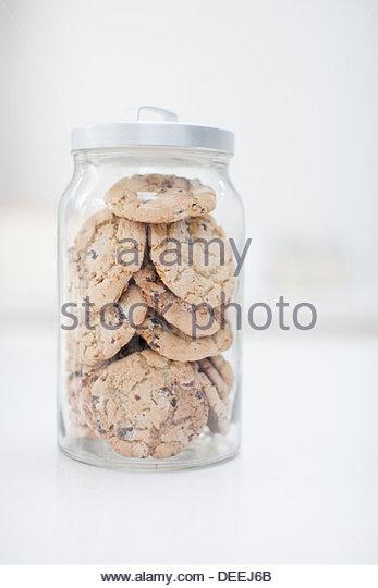 Jar of cookies - Stock Image