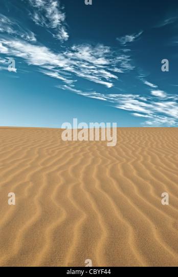 Sand desert - Stock Image
