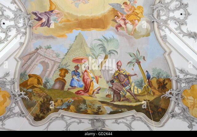 Ceiling painting - Stock-Bilder