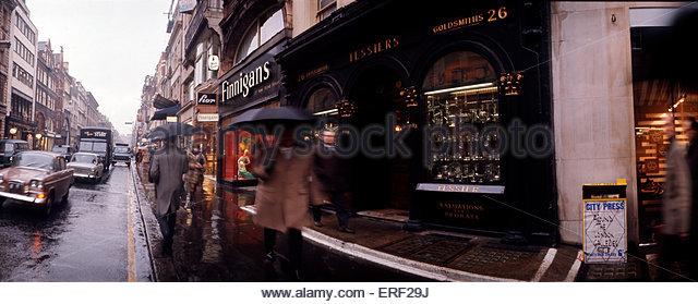 Tessiers, Goldsmith & Jewellers, Bond Street, London. Shop exterior. - Stock Image