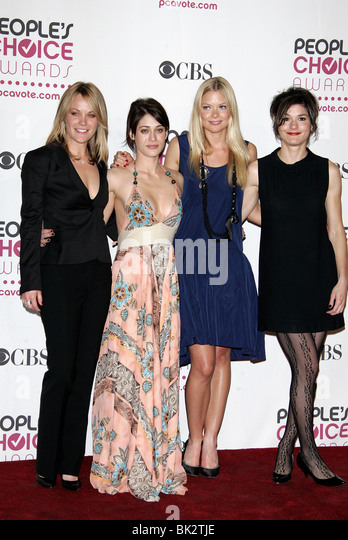 ANDREA ANDERS LIZZY CAPLAN JAIME KING & HEATHER GOLDENHERSH 33RD PEOPLES CHOICE AWARDS DOWNTOWN LOS ANGELES - Stock Image