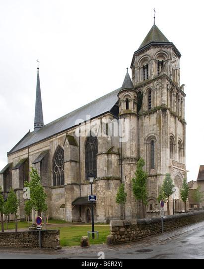 Poitiers, Sainte-Radegonde, Blick von Nordwesten - Stock-Bilder