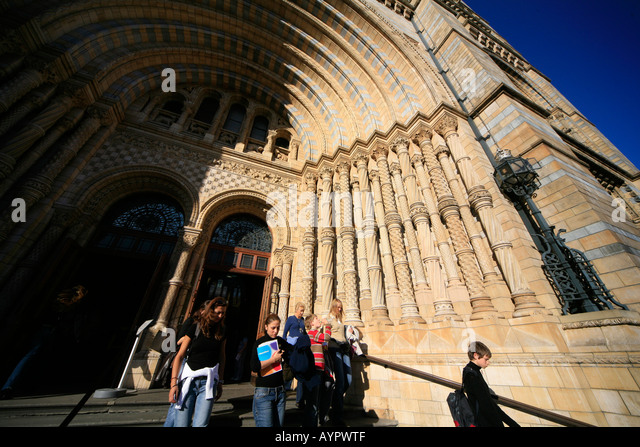 Entrance to British Natural History Museum, London - Stock Image