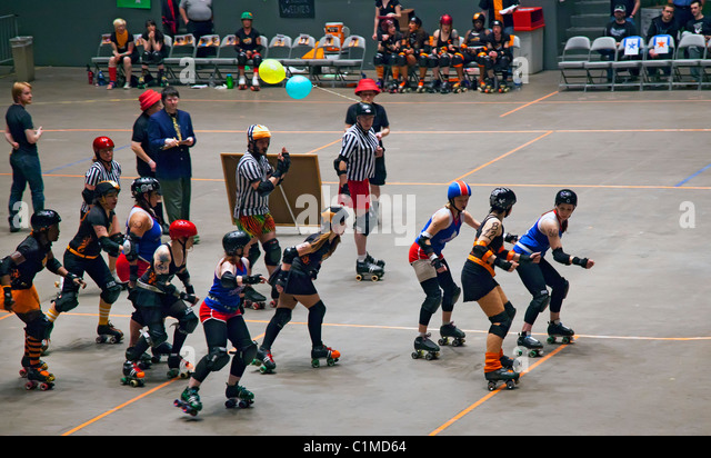 haircut in vegas rollerderby stock photos amp rollerderby stock images alamy 4471