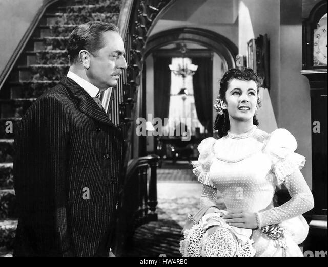 LIFE WITH FATHER 1947 Warner Bros film with Elizabeth Taylor and William Powell - Stock-Bilder
