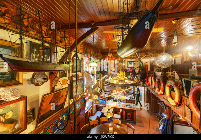 Zur Kogge, famous harbor bar and restaurant , Rostock , Mecklenburg-Vorpommern, - Stock Image