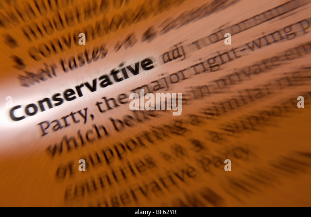 British Politics - Conservative Party - Stock Image
