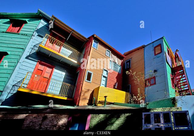 Caminito Street, La Boca neighborhood, Buenos Aires, Argentina. - Stock Image