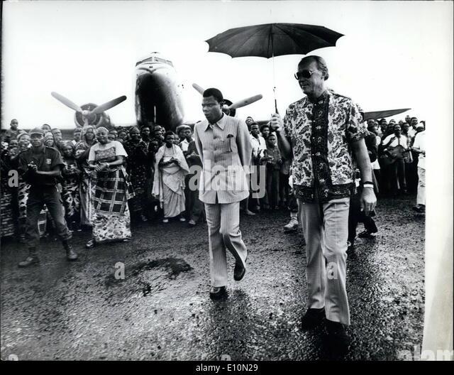 Aug. 08, 1973 - H.R.H. Prince Bernhard in Zaire (former Belgian Congo). During his visit to Zaire Prince Bernhard - Stock-Bilder