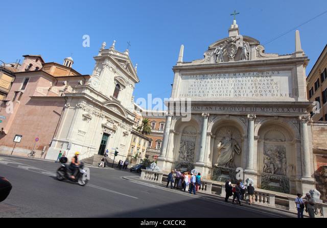 Italy, Rome, Rom, Roma, church, square, Santa Maria della Vittoria - Stock Image
