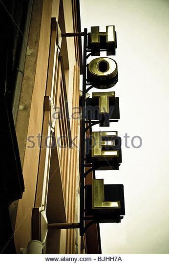 hotel sign - Stock-Bilder