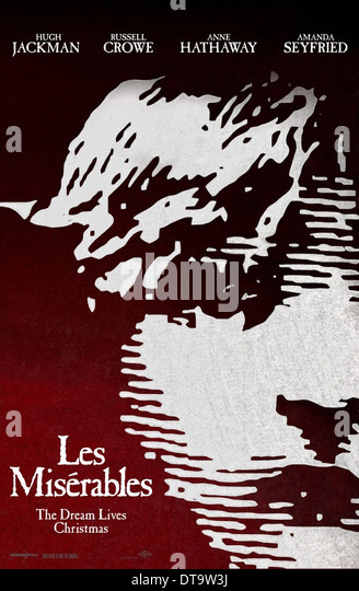 MOVIE POSTER LES MISERABLES (2012) - Stock Image