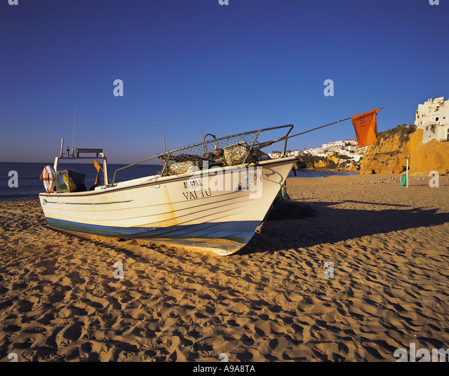 Fishing boat albufeira algarve portugal stock photos for Fast fishing boats