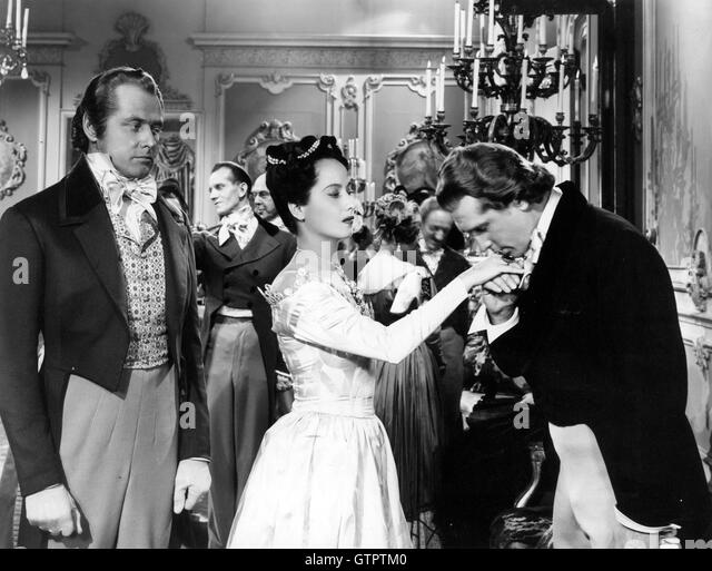 A SONG TO REMEMBER 1945 Columbia film with from left George McReady (as De Musset)  Merle Oberon (George Sand) , - Stock Image