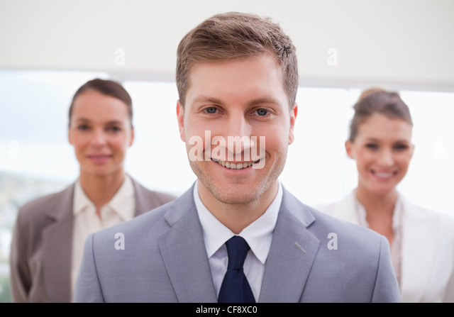 Sales manager standing - Stock Image