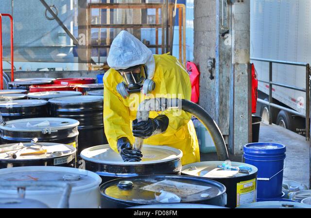 Hazardous material handling - Stock Image