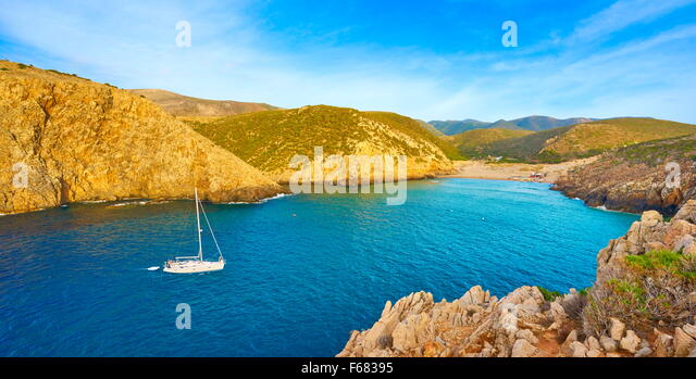 Cala Domestica Bay, Buggerru, Sardinia Island, Italy - Stock Image