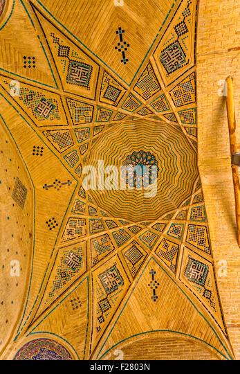 Mausoleum of famous Iranians ceiling - Stock Image
