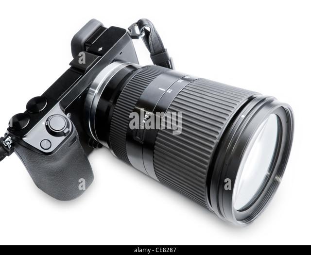 Bi Zoom Camera and lens - Stock Image