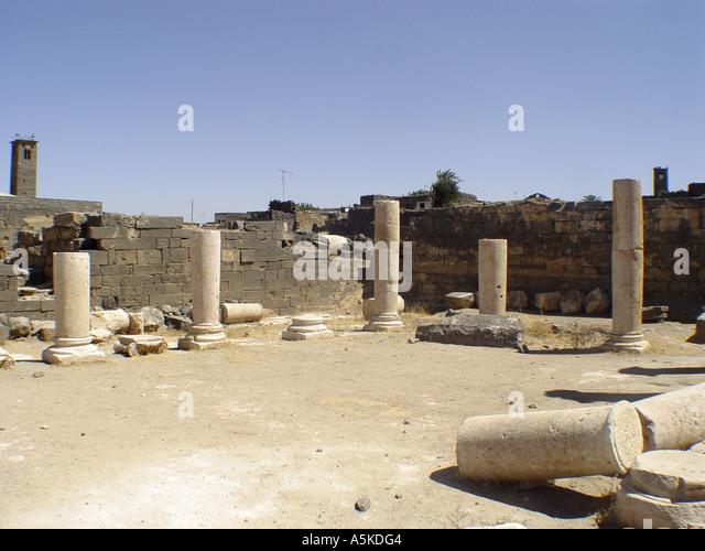 Ruins in bosra - Stock Image