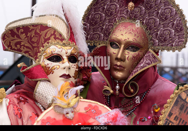 Venice, Italy. 30th Jan, 2016. The Carnival of Venice is an annual festival, held in Venice, Italy. Carnival officially - Stock Image