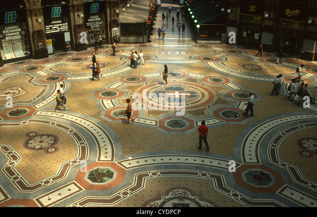 The Galleria Vittorio Emanuele II is the oldest shopping mall in Italy - Stock Image