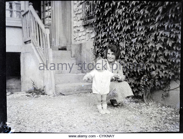 summer happy moment in the countryside vintage 1900s - Stock Image