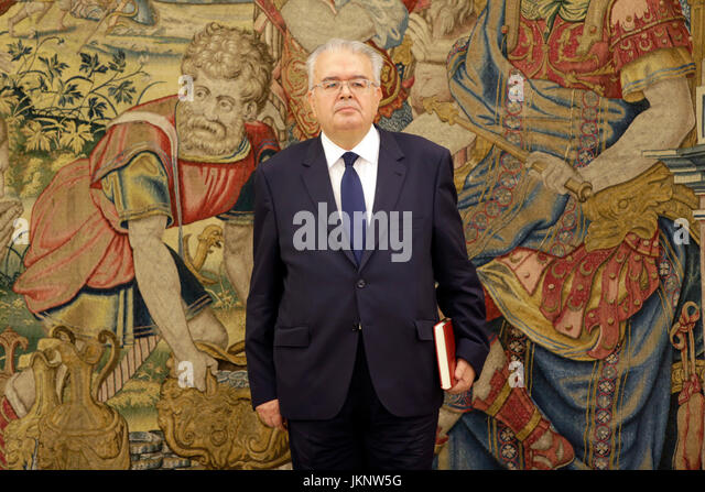 Madrid, Spain. 24th July, 2017. President of Constitutional Court, Juan José González Rivas at the Palacio - Stock Image
