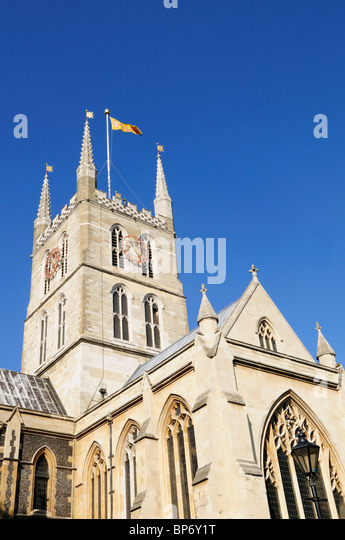 Southwark Cathedral, London, England, UK - Stock-Bilder