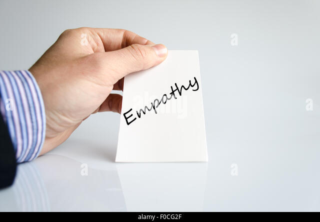 Empathy text concept isolated over white background - Stock Image