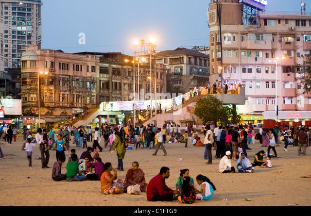 Chowpatty Beach scene, Mumbai, India - Stock Image