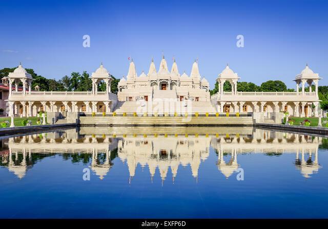 Hindu Temple in Atlanta, Georgia. - Stock Image