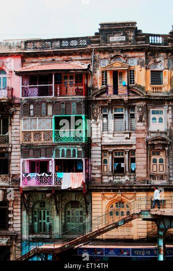 Houses Mumbai ; Maharashtra ; India - Stock Image