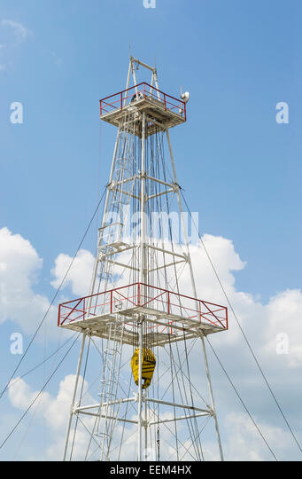 Metallic scaffold for drilling in oil industry - Stock Image