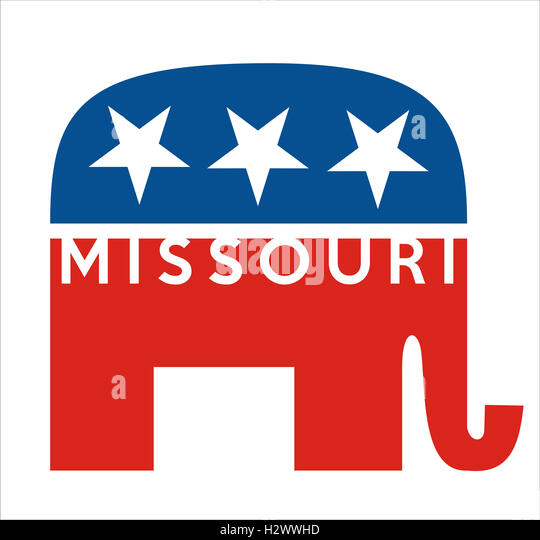 republicans Missouri - Stock Image