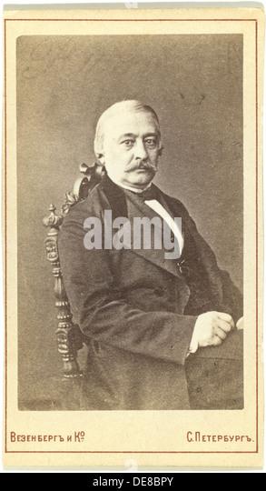 Portrait of the Publisher Andrey Krayevsky (1810-1889). Artist: Photo studio Wesenberg - Stock Image