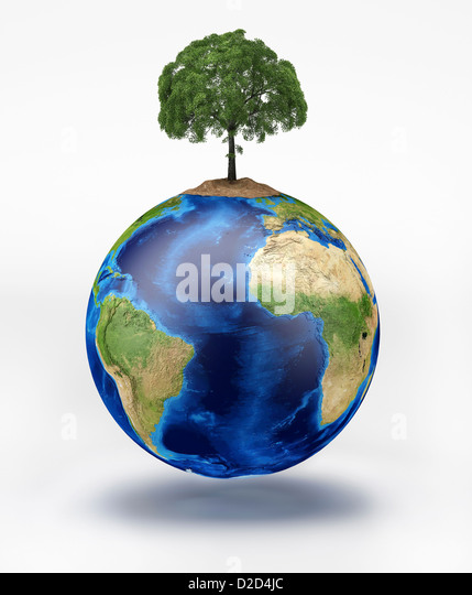 Conservation conceptual computer artwork - Stock Image