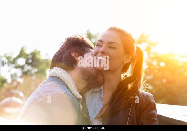 Young couple in love in Paris - Stock-Bilder