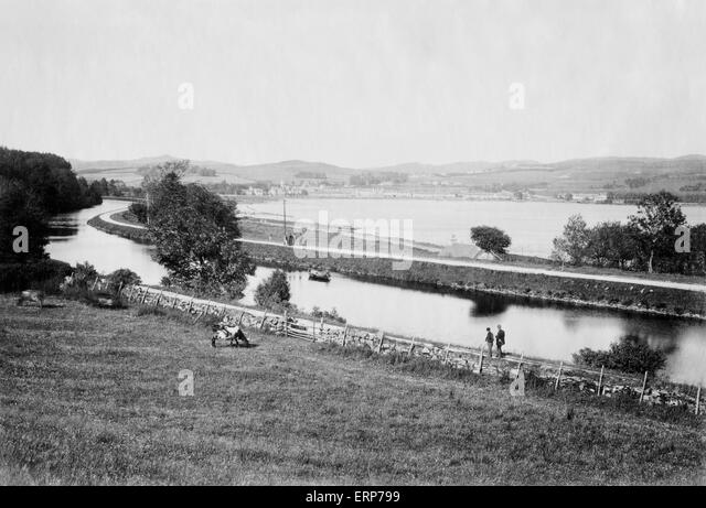 On the Crinan Canal, Scotland, UK c1880 - Stock-Bilder