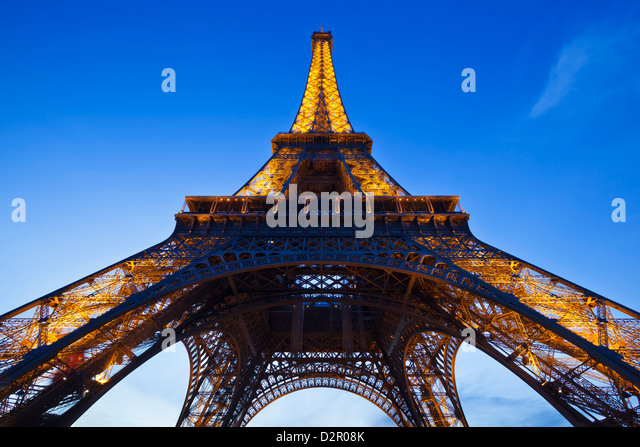 Eiffel Tower in the evening, Paris, France, Europe - Stock Image