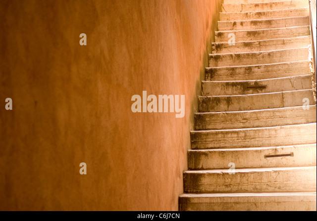 Set of stone stairs in Venice, Veneto Italy - Stock-Bilder