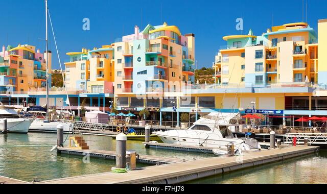 Albufeira Marina, Algarve, Portugal - Stock-Bilder