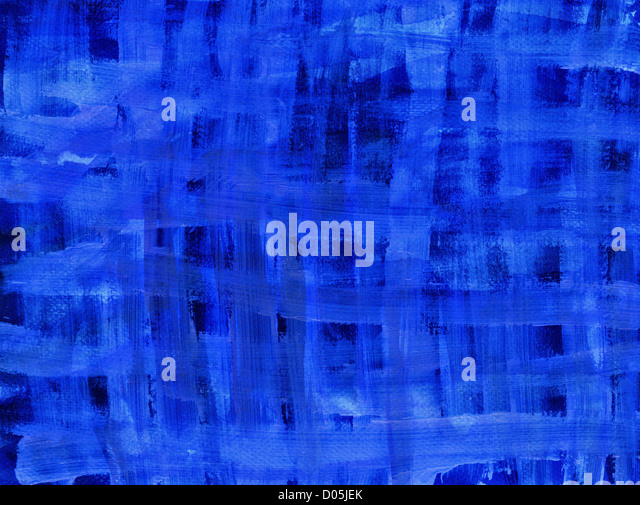Artistic abstract background with blue brush strokes. - Stock-Bilder