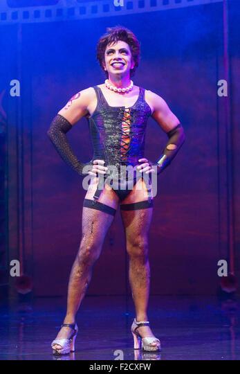 London, UK. 15 September 2015. David Bedella as Frank'n'furter. The Rocky Horror Show, written and starring - Stock Image