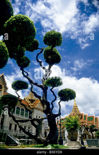 Temple of the Emerald Buddha, Bangkok, Thailand. - Stock Image