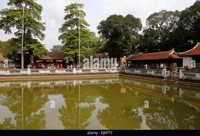 Third Courtyard and Well of Heavenly Clarity, Temple of Literature, Hanoi, Vietnam - Stock Image